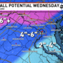 Snow and ice on the way: Winter Storm Warning in effect starting at 1 a.m. Wednesday