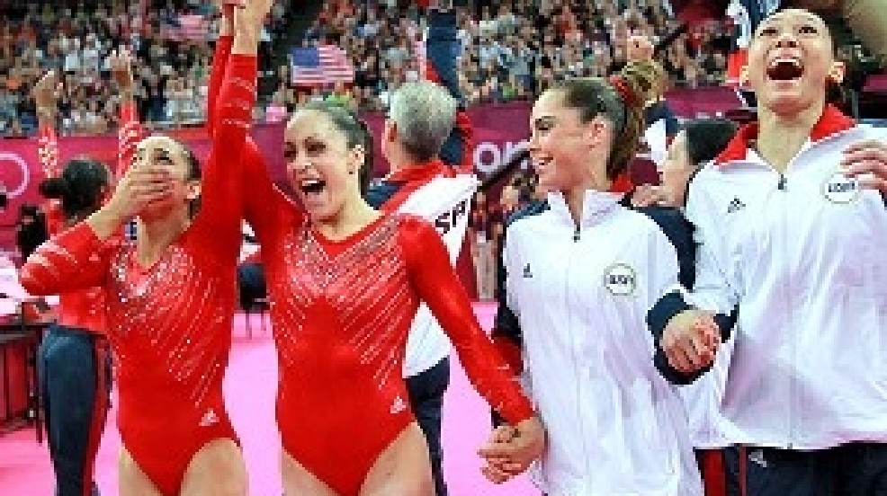 U S  women's gymnastics dominant, wins first team gold since