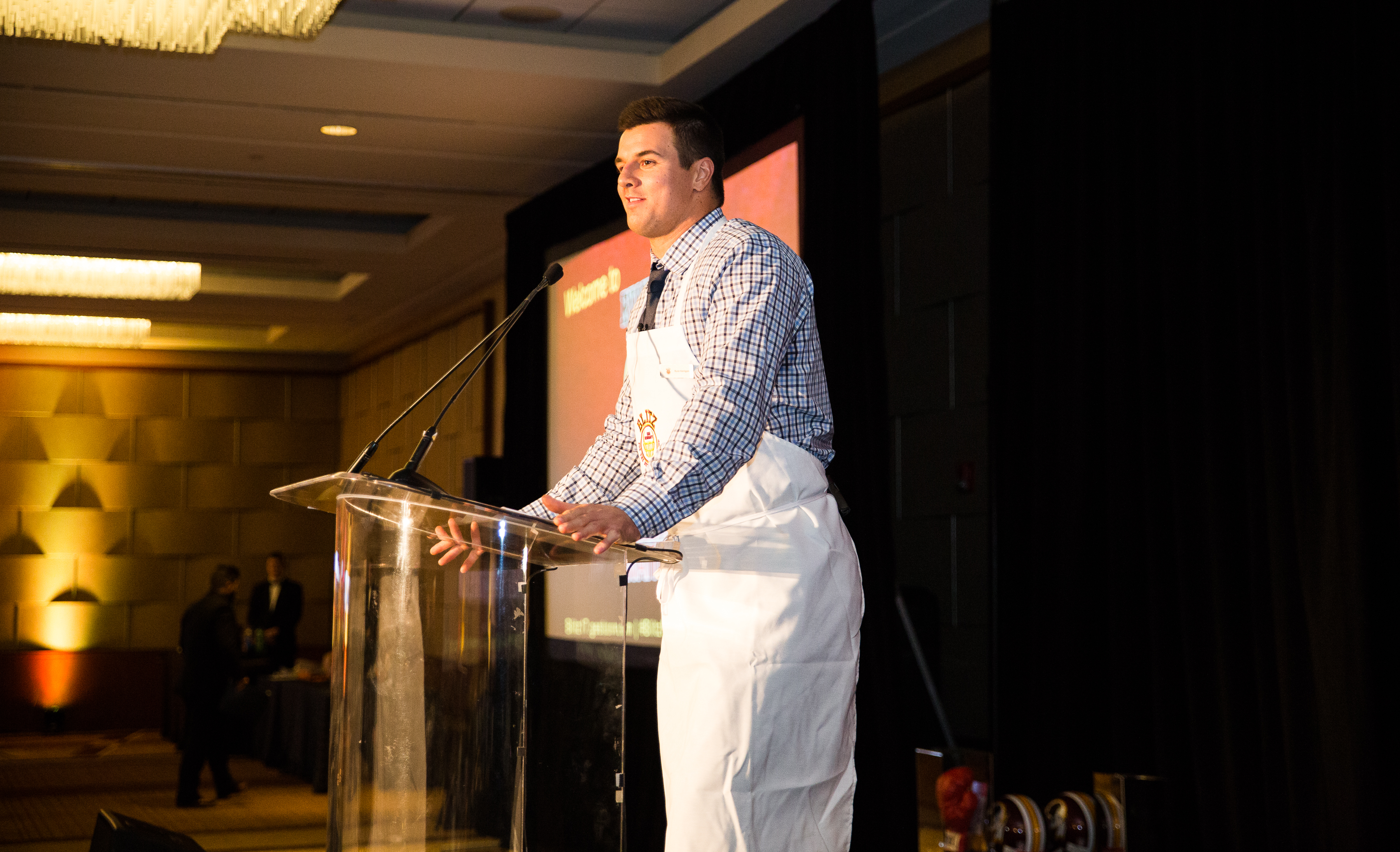Have you ever wondered what you would do if you saw your favorite athlete at dinner? Well for 240 lucky guests at the Grand Hyatt Washington, they not only saw six Redskins at dinner, but were served their dinner by these apron-clad players. As a benefit for Ryan Kerrigan's Blitz for the Better Foundation, Josh Norman, Matt Ioannidis, Nick Sundberg, Chris Carter and Anthony Lanier joined their teammate and traded in their uniforms for aprons for one night of servitude to raise more than $210,000 for programs like Kerrigan's Korners in pediatric hospitals. In addition to mingling with their favorite athletes at the 5th Annual Celebrity Waiter Night, guests were treated to a three-course dinner accompanied by fine wine. During the program, Kerrigan also announced the launch of the Positive Impact Fund, which will provide financial help to families severely/chronically ill-children or special-needs children at MedStar Georgetown University Hospital. (Image: Courtesy Blitz for the Better Foundation)