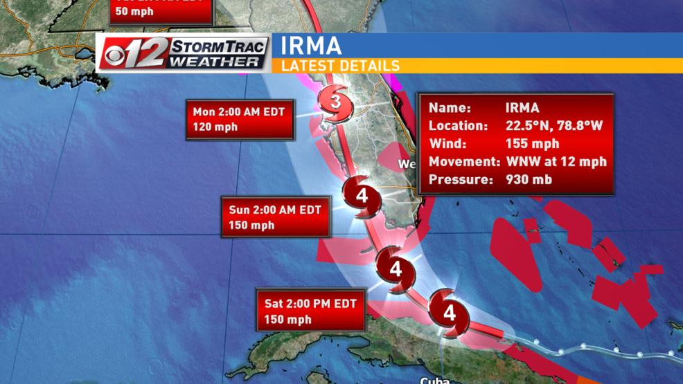 Hurricane Irma May Hit Florida As A Category 5 Hurricane Wpec