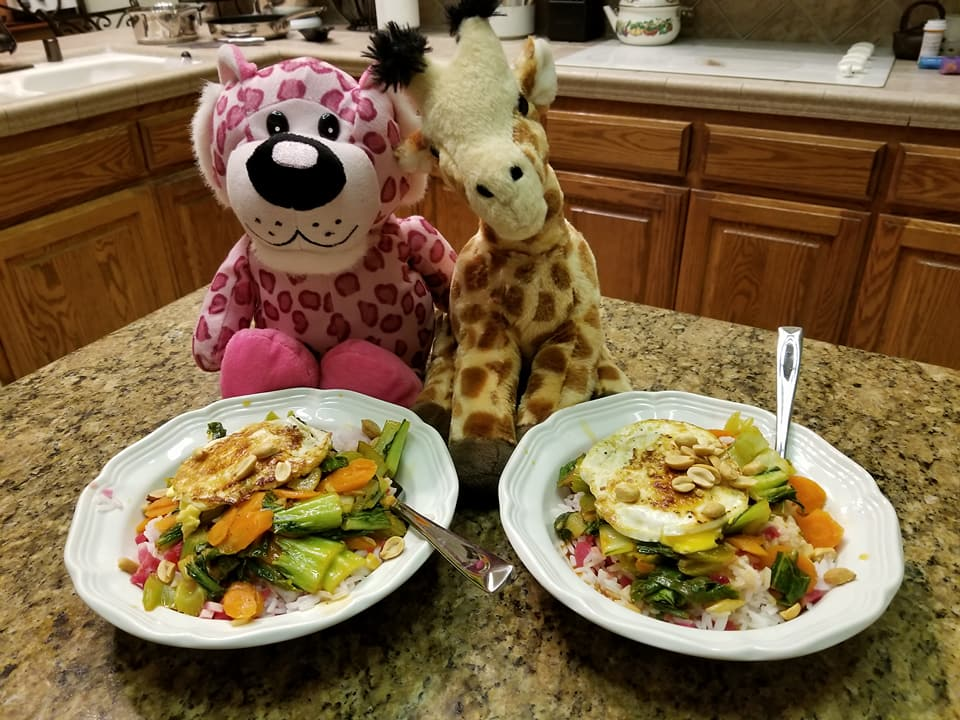 Clovis woman on a mission to reunite stuffed animals with their 'best friend.' Getting dinner with friends. (Brenda Bibb Kirby via KMPH)