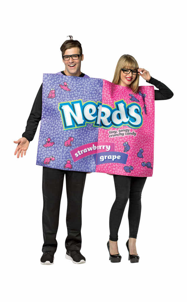 Nerds. Become your favorite 80's candy with your favorite person! Stay close and cozy all Halloween with this costume built for two. (Image: HalloweenExpress.com)