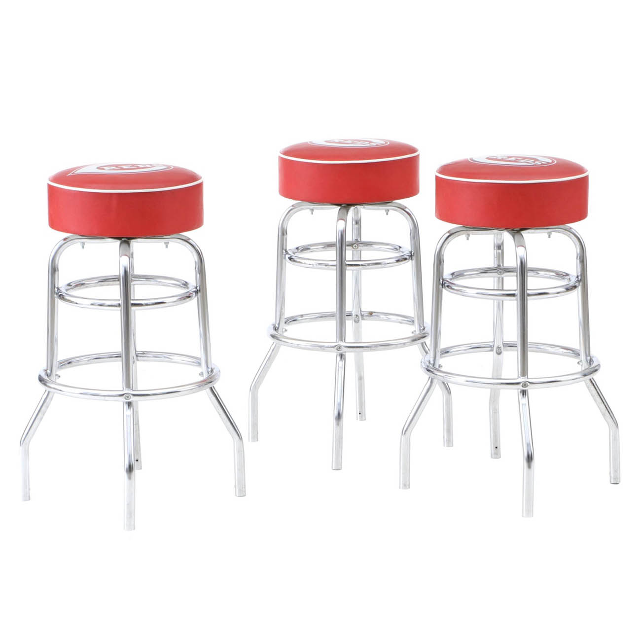 Three Cincinnati Reds bar stools that sat in The Reds Hall of Fame / Image courtesy of Everything But The House (EBTH) // Published: 12.6.18