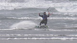 Storm hits Oregon Coast, knocking out power - and upping fun factor for kiteboarders