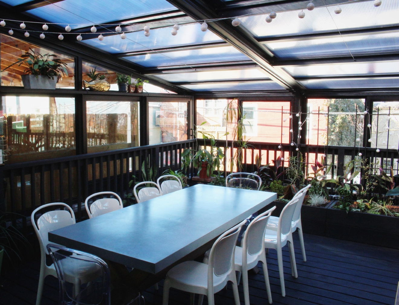 For $125/person you and 5-7 guests can dine on Aaron Silverman's greenhouse-inspired roof and enjoy a customized tasting menu. Only one reservation per night is taken for this experience. (Image: Jordan Anthony-Brown)
