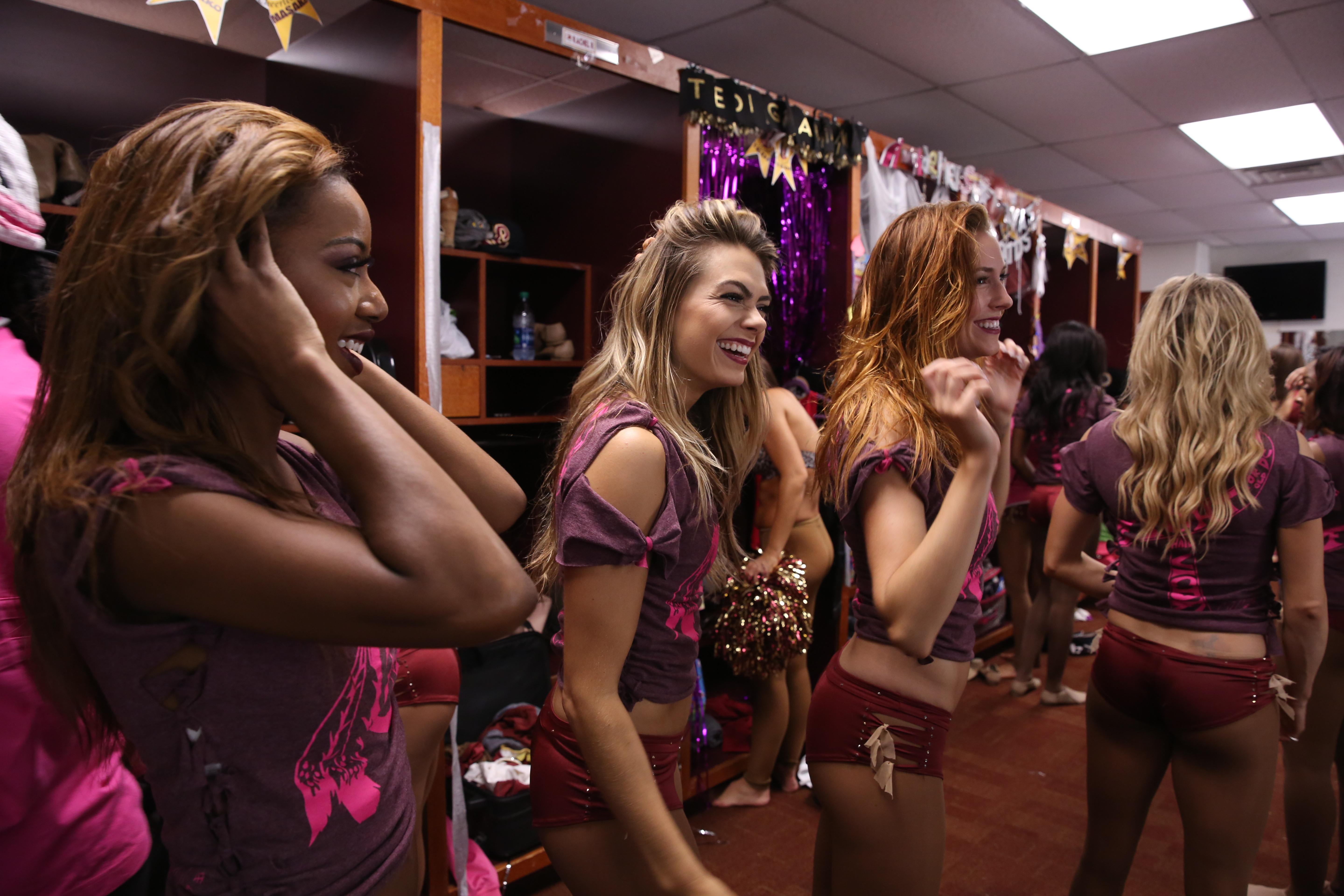 Behind the scenes with the Redskins cheerleaders, October 2016.  (Amanda Andrade-Rhoades/DC Refined)