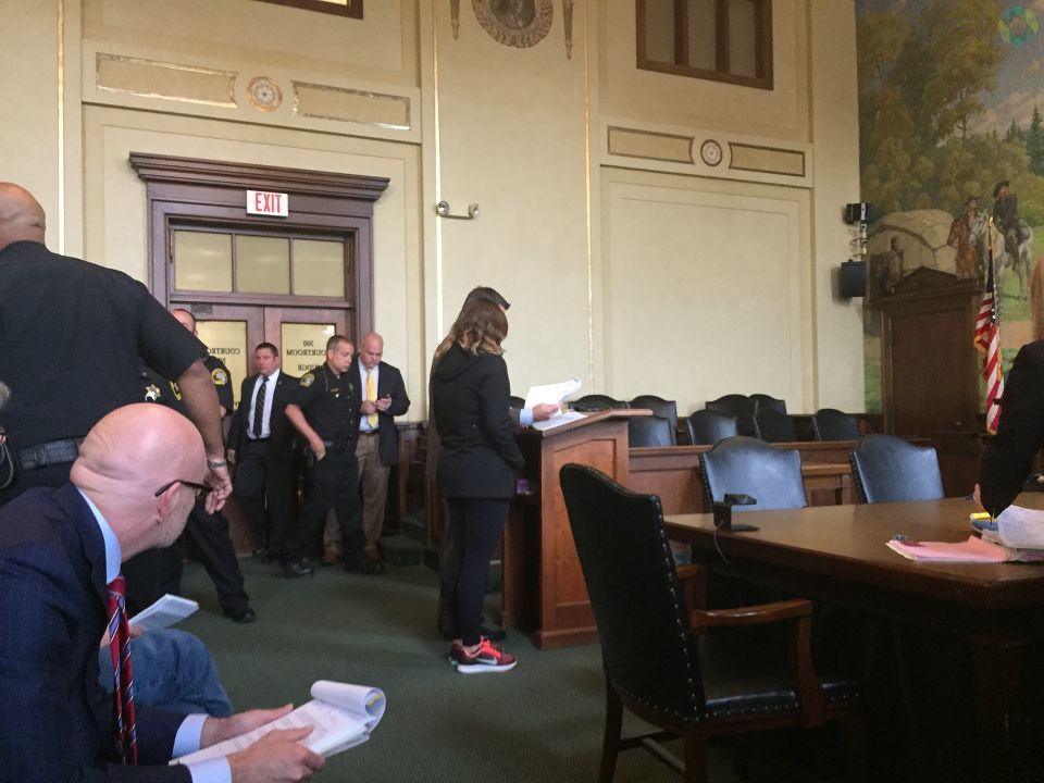 Genesee County Judge Geoffrey Neithercut has sentenced a Howell woman to about six and a half years in prison, in connection to a crash that killed 49-year-old Clio firefighter Michael Wager in July 2016. (Photo Credit:  Joel Feick)