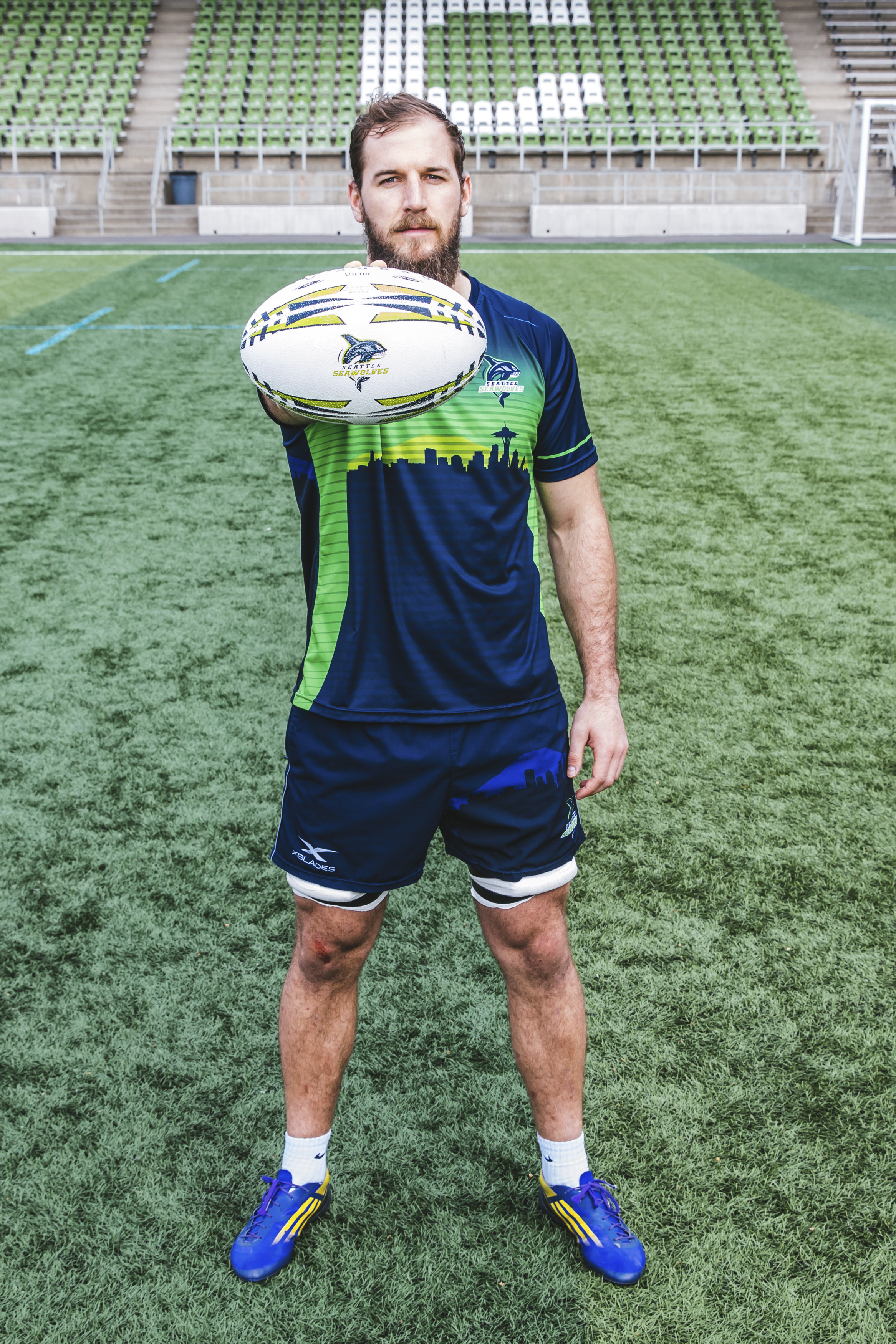 Hailing from Pretoria, South Africa, Riekert Hattingh, 24,  plays 8 Man on the Seattle Seawolves. His favorite movie is Yellowstone. (Image: Sunita Martini / Seattle Refined).