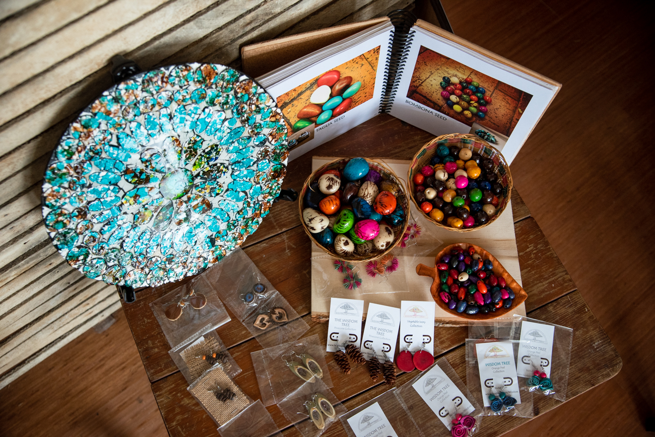 Newport resident Di Del Pilar Cendales is the artist behind Wisdom Tree, a handcrafted jewelry line that's inspired by her love of nature and her experience living and working in the Amazon Rainforest. Wisdom Tree's pieces include organic materials such as dried fruits, nuts, leaves, and seeds to make unique, handcrafted jewelry. / Image: Melissa Sliney // Published: 6.26.19