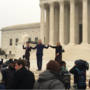 Protesters gather as Supreme Court wrestles with case of wedding cake for same-sex couple