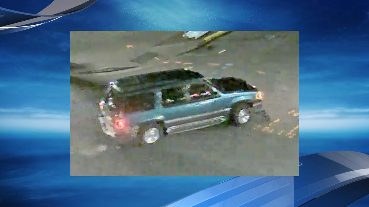A surveillance camera caught this image of the SUV some of the suspects left in. (Photo: PCC)