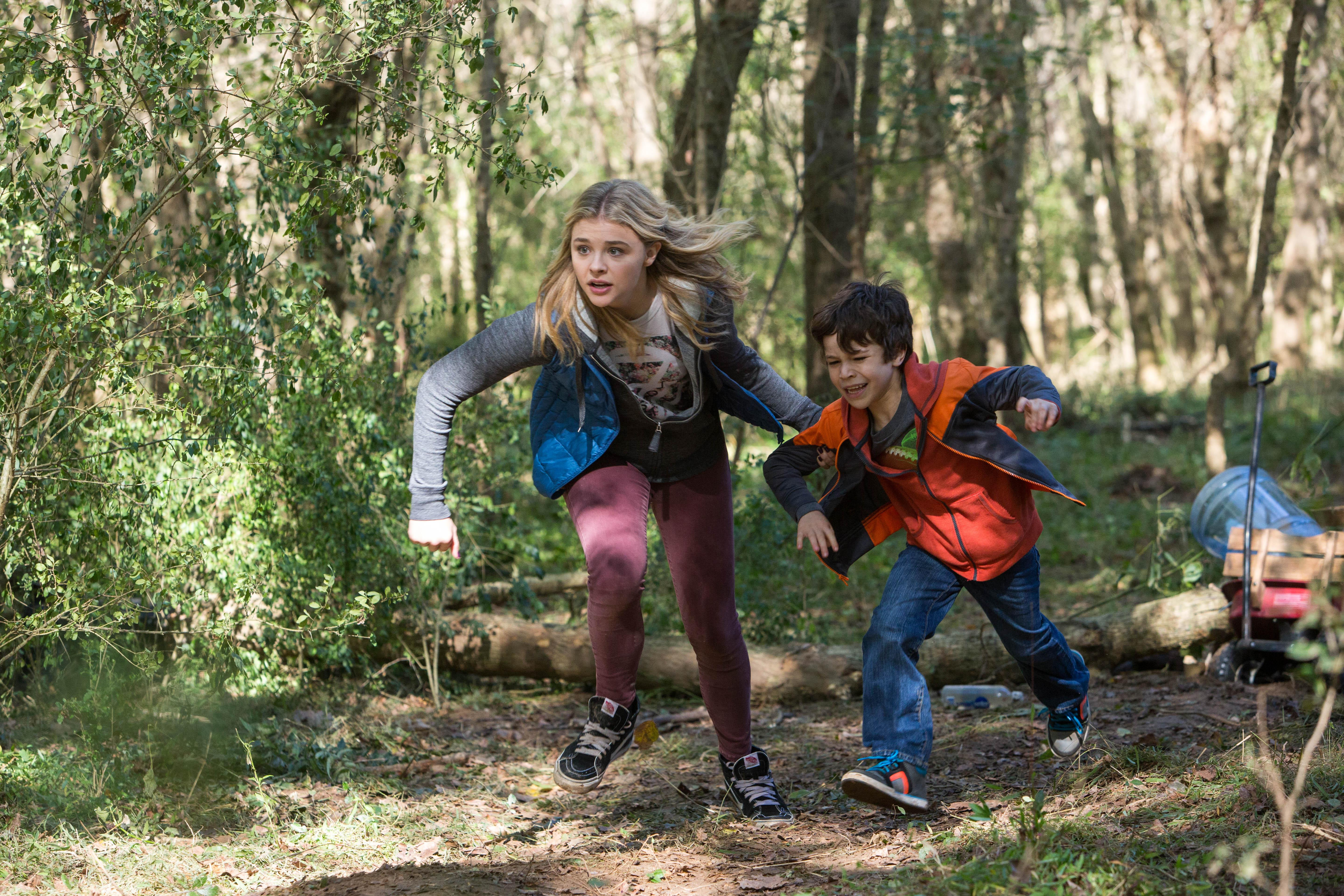 "Chloe Grace Moretz and Zackary Arthur star in Columbia Pictures' ""The 5th Wave."""