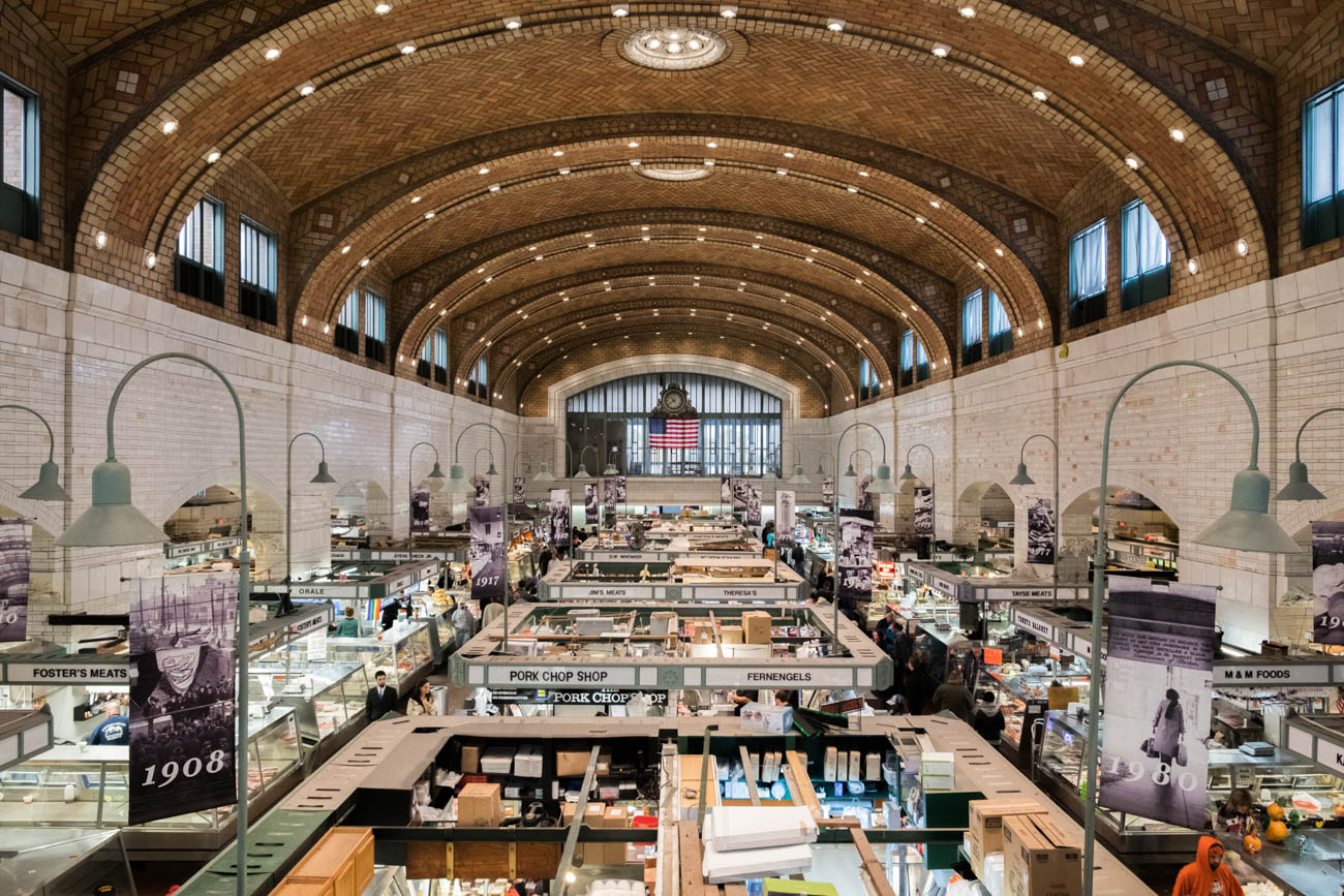 PLACE: The West Side Market / ADDRESS: 1979 W 25th Street, Cleveland, OH (44113) / DISTANCE: 61 miles from Grandpa's Cheesebarn and Sweeties Chocolates / DESCRIPTION: The West Side Market—with more than 100 vendors—is the last stop on your food-focused road trip through the state. Since opening in 1840, the historic market has everything from fresh produce to fresh pierogies and everything in between. / Image: Lance Anderson via Unsplash // Published: 1.31.19