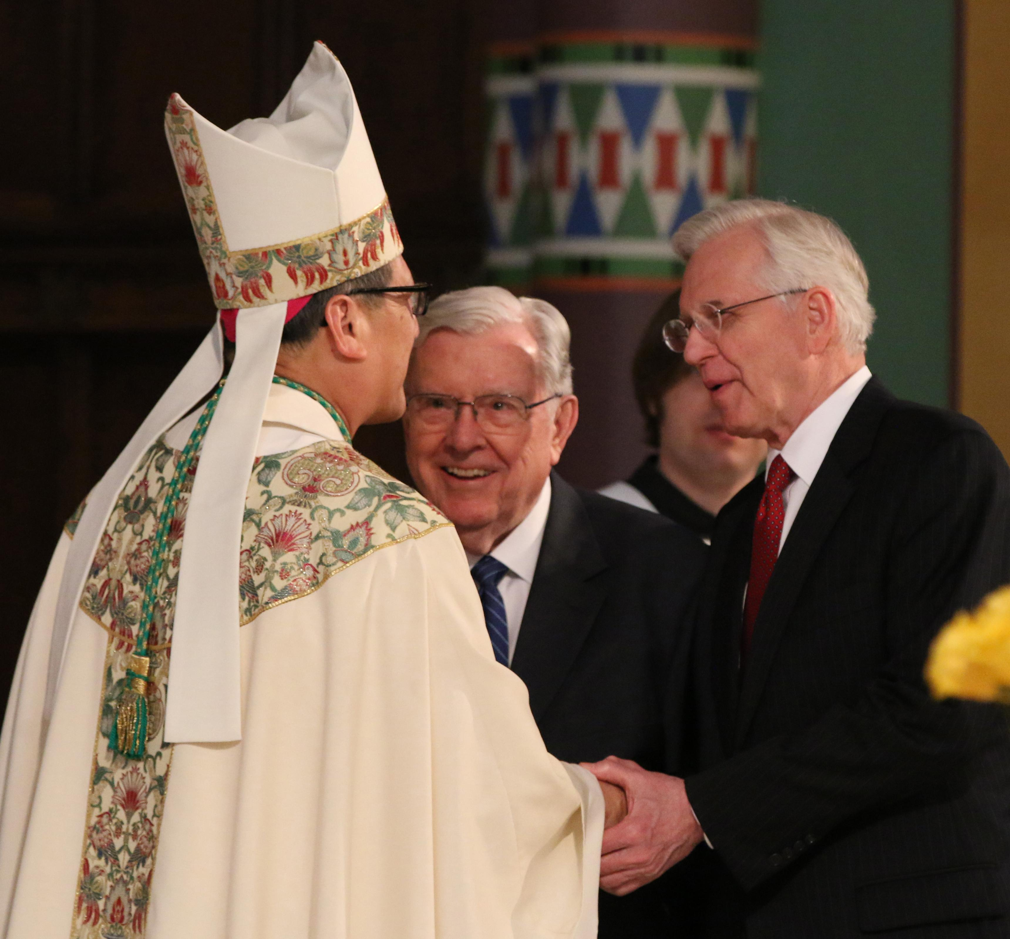 Utah catholic bishop becomes key face in interfaith scene kutv during the greetings by the faithful ecumenical representatives and civic leaders bishop solis greets m4hsunfo Image collections