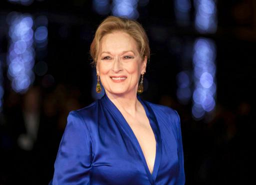 "FILE - In this Oct. 7, 2015 file photo, Meryl Streep appears at the premiere of the film ""Suffragette,"" at the opening gala of the London film festival in London. The Hollywood Foreign Press Association announced Thursday, Nov. 3, 2016, that Streep will receive the Cecil B. DeMille Award for ""outstanding contributions to the world of entertainment."" The 67-year-old actress has long been a mainstay at the ceremony. She's been nominated 29 times. (Photo by Grant Pollard/Invision/AP, File)"