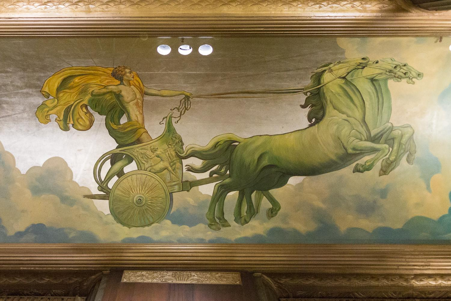 Mural of Apollo, found in the Apollo Gallery vestibule / Image: Daniel Smyth Photography