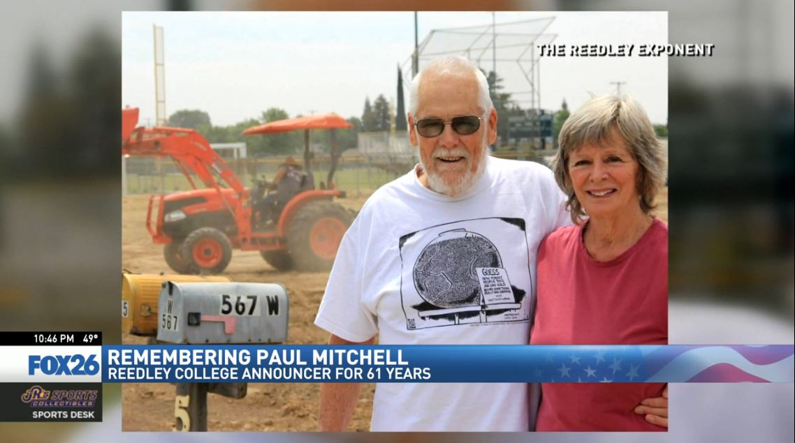 Paul Mitchell is survived by his wife, Madeleine, four children, nine grandchildren and five great-grandchildren.{ }(Photo courtesy of the Reedley Exponent)