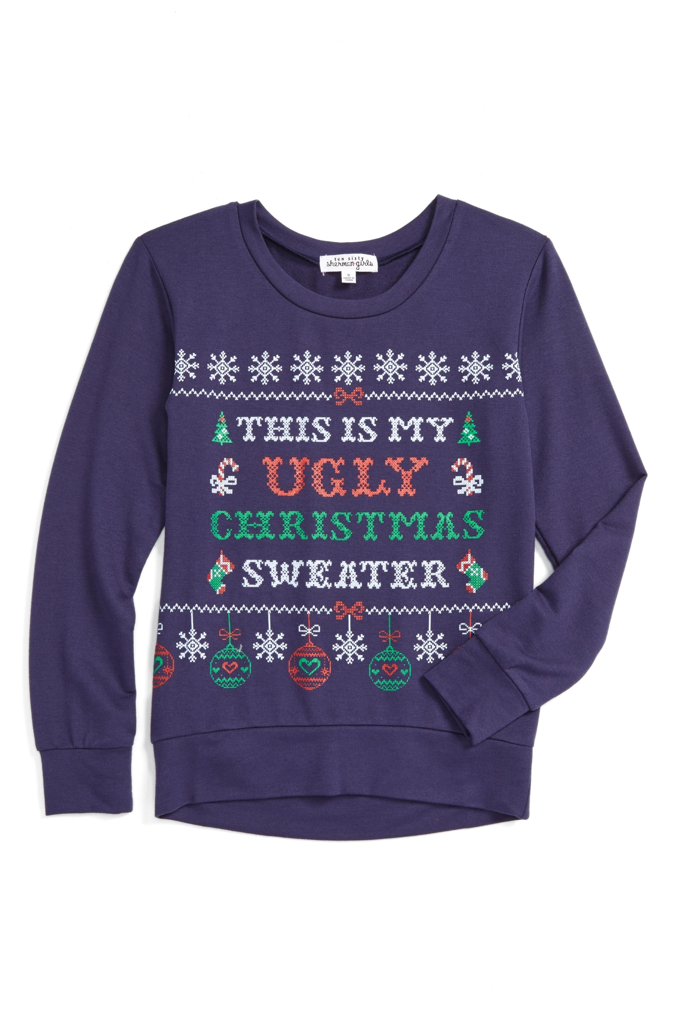 Ten Sixty Sherman Ugly Christmas Graphic Sweatshirt (Big Girls), $32 (Photo: Nordstrom)