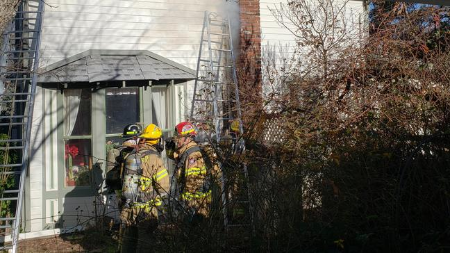 Crews Use Drone In Chimney Fire Fight