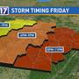 CODE RED: Damaging wind, golf ball size hail, tornadoes possible in Middle Tennessee