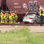 Police identify man killed after car hits train