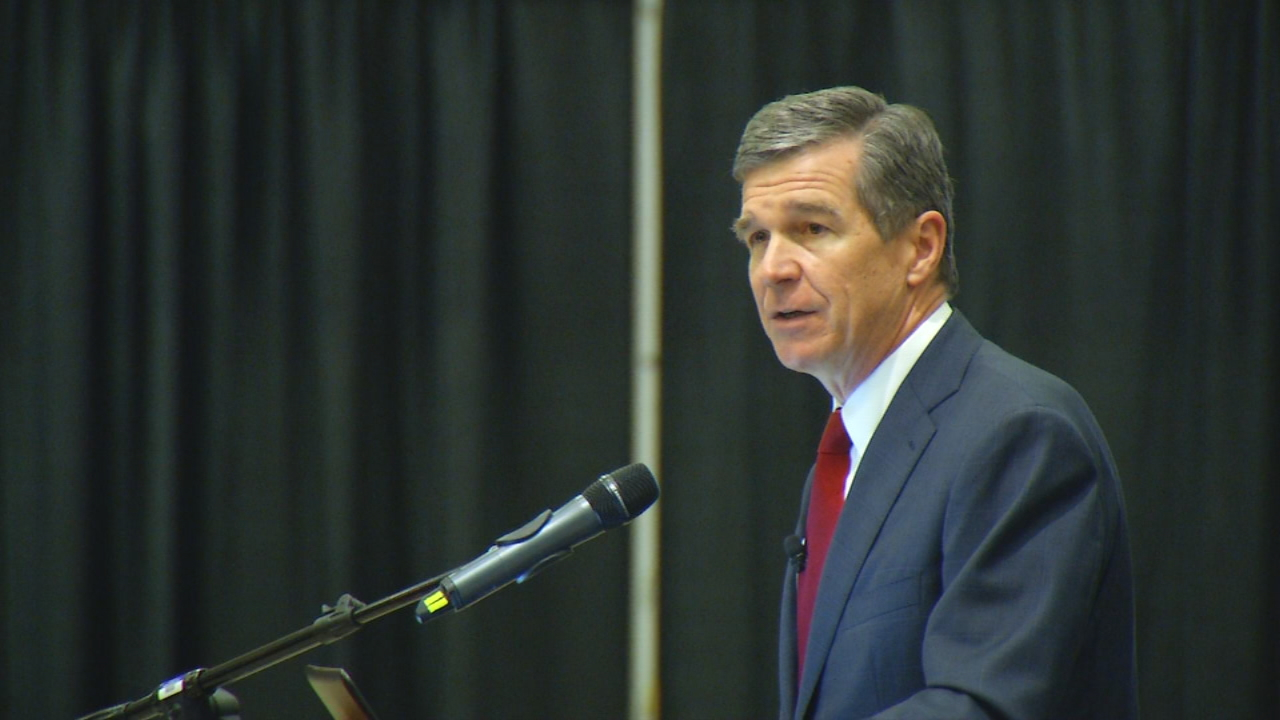 FILE - North Carolina Governor Roy Cooper is expected to hold a live briefing on preparations for Hurricane Irma at 5:30 p.m. (Photo credit: WLOS staff)