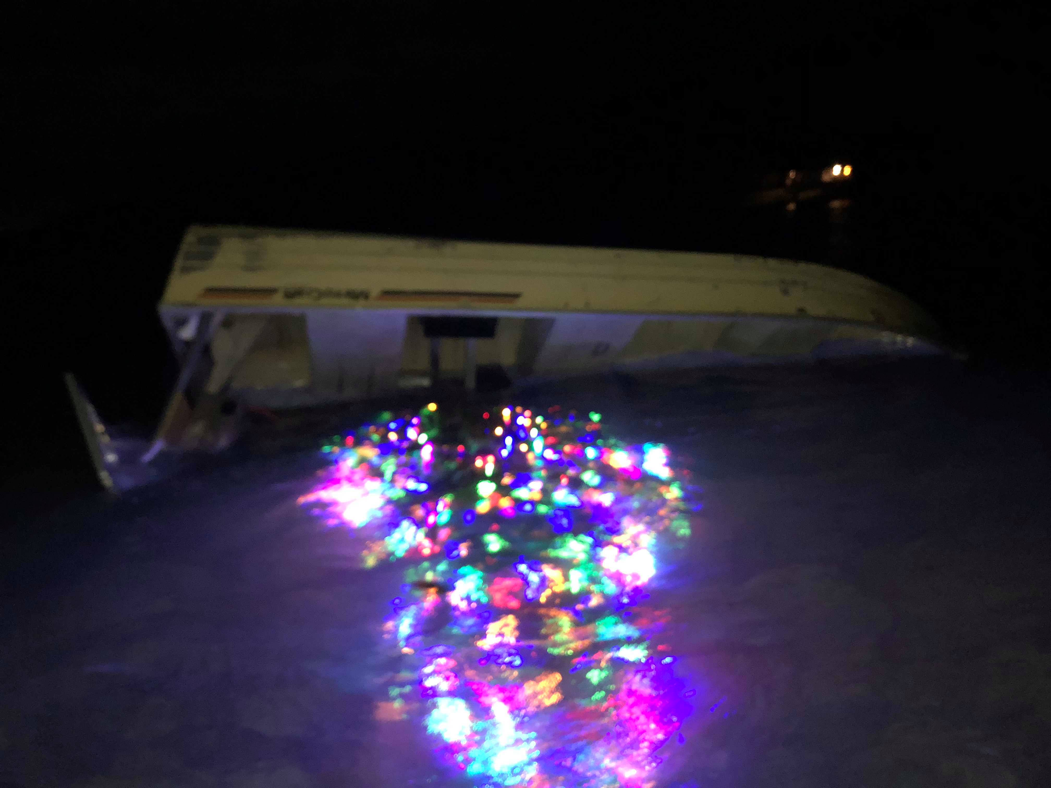 Gusty winds capsized the Christmas tree boat late Monday night in Glen Lake.