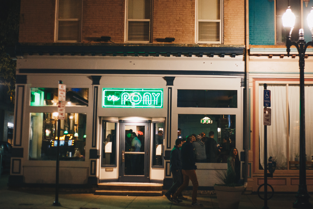 The night before Thanksgiving is traditionally the busiest bar night of the year. Over-the-Rhine was filled with happy drinkers from happy hour to the wee hours of the morning. / Image: Catherine Viox // Published: 11.23.17