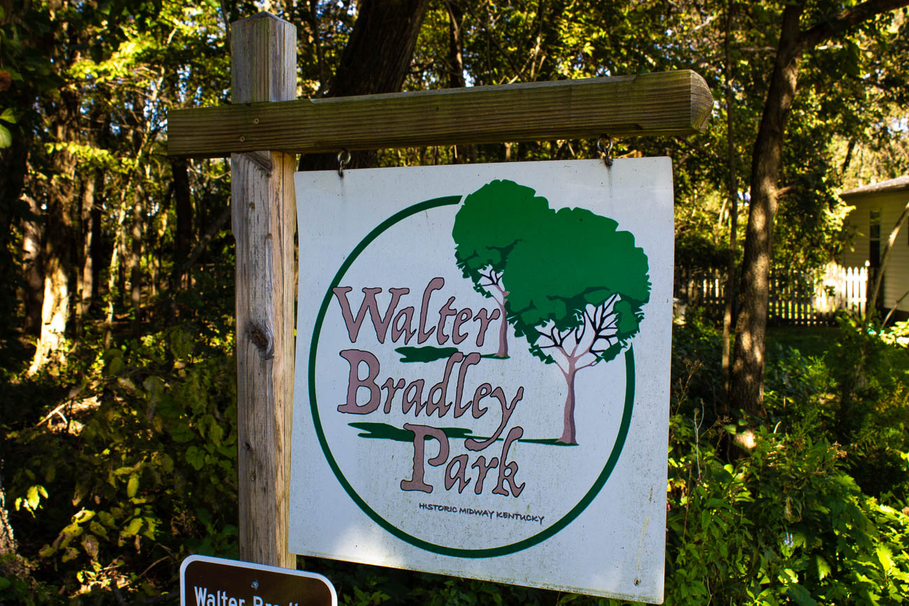 Walter Bradley Park is a popular woodland area in town that features walking trails and a dog park. / Image: Katie Robinson, Cincinnati Refined // Published: 10.23.18<p></p>