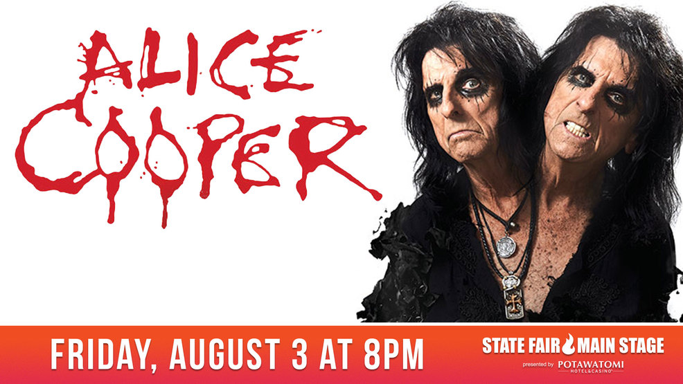 Promo image for Alice Cooper concert at 2018 State Fair