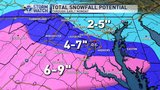 7pm Update - Snow now falling across the DMV, much more to come