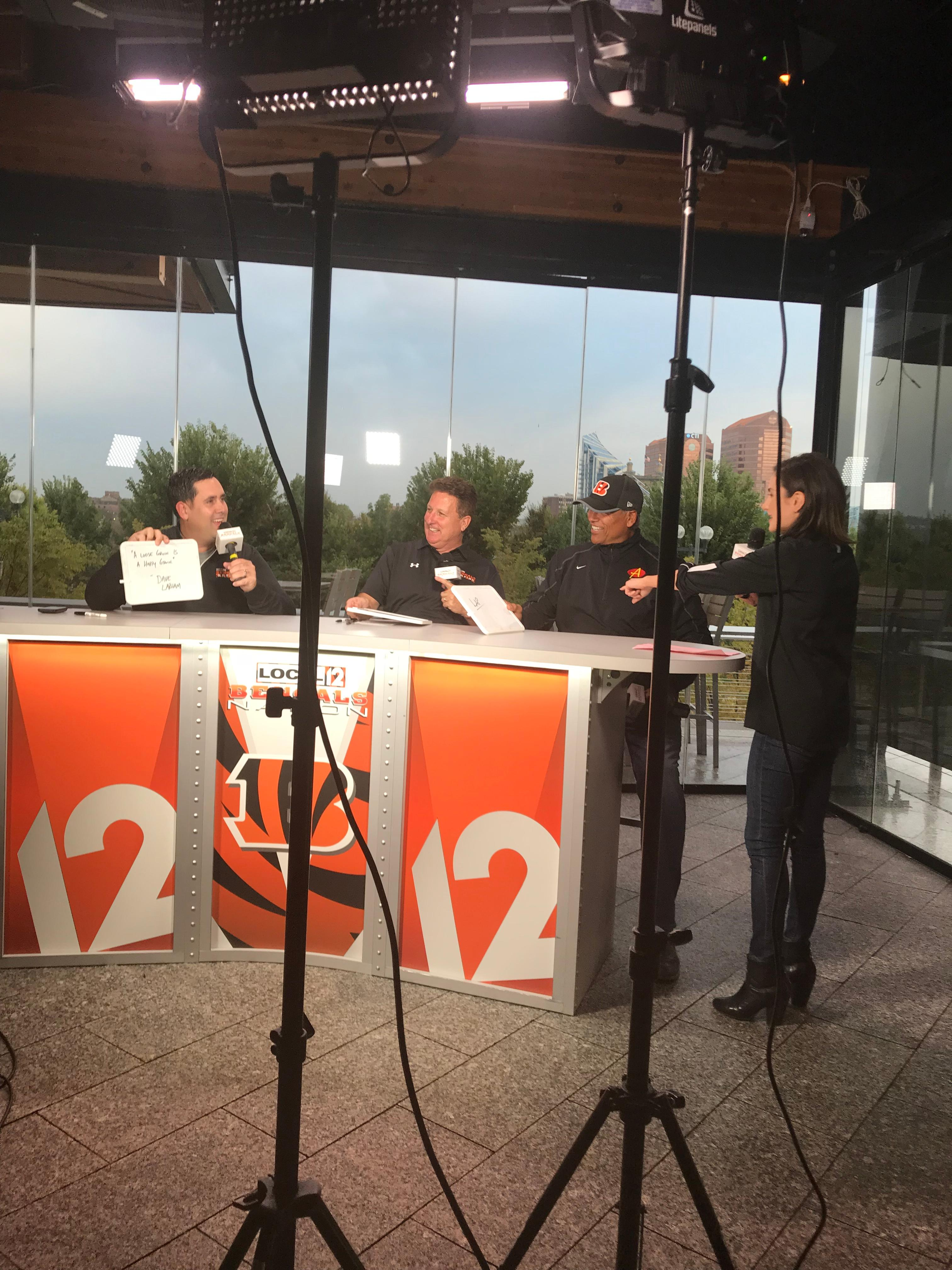 Special guests Marvin Lewis and Anthony Munoz at Moerlein Lager House (WKRC/Monica Hines)