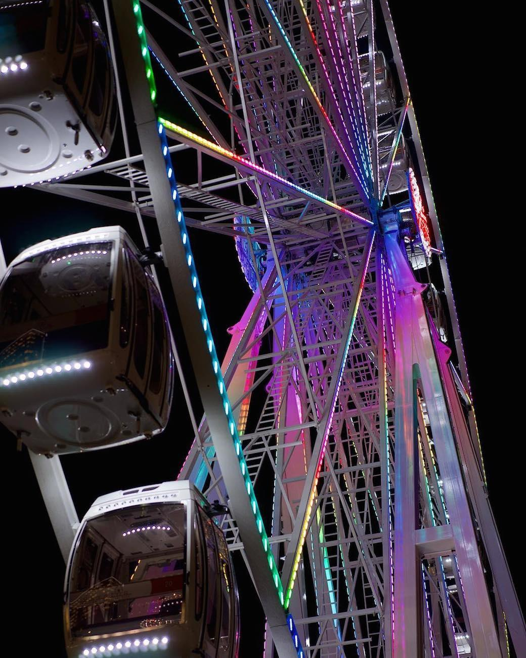 The SkyStar is the largest traveling observation wheel in the country. Guests are carried in gondolas up almost 15 stories high while overlooking the Ohio River. The 36 carriers are climate-controlled and can hold up to six people. The magnificent structure will only call The Banks its home through December 2nd before it's packed up and rolled to a new city. SkyStar runs daily, and tickets are $12.50. ADDRESS: 55 East Freedom Way (45202) / Image courtesy of Instagram user @gdawsonphotography // Published 9.12.18<br>