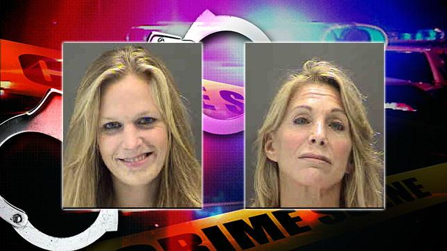 Sarasota Police say a tip about possible prostitution led to the arrest of Jennifer and Anne Dodge on various charges. (Sarasota Police)