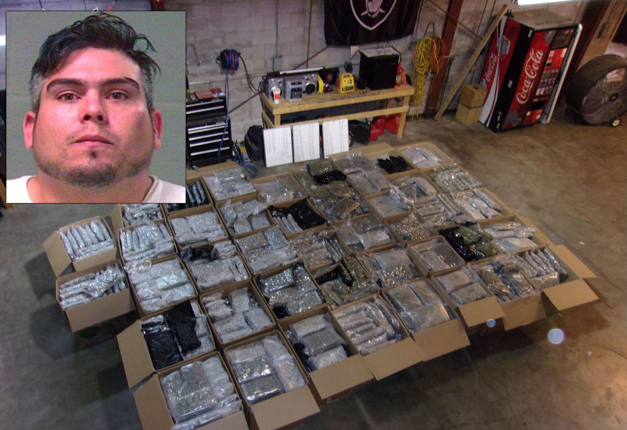 A traffic stop led to the seizure of 1,677 pounds of marijuana in Oklahoma City. (Oklahoma County Sheriff's Office)