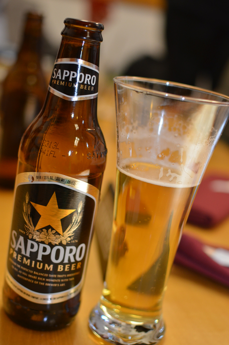 Enjoying the Bud Light equivalent for Japanese beers at Matsuya. And yet it tastes way better than Bud Light. (Image: Leah Zipperstein / Cincinnati Refined)