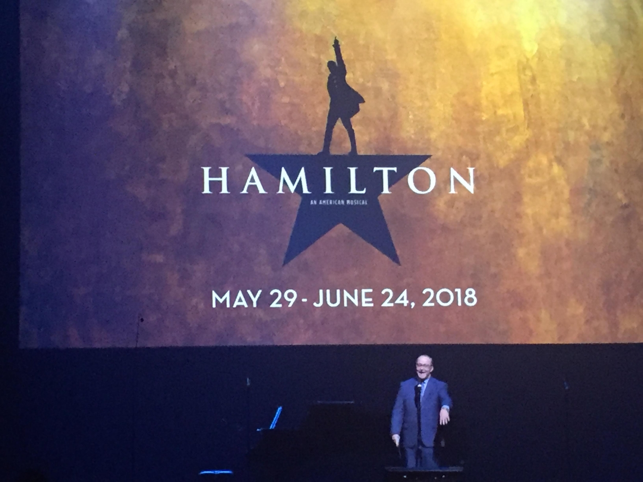 The highly-anticipated musical Hamilton was revealed as an upcoming tour during the Smith Center for the Performing Arts 2017-2018 Broadway series preview Tuesday, Feb. 28, 2017, in Reynolds Hall. It will run in Las Vegas from May 29 - June 24, 2018 (Jami Seymore | KSNV)