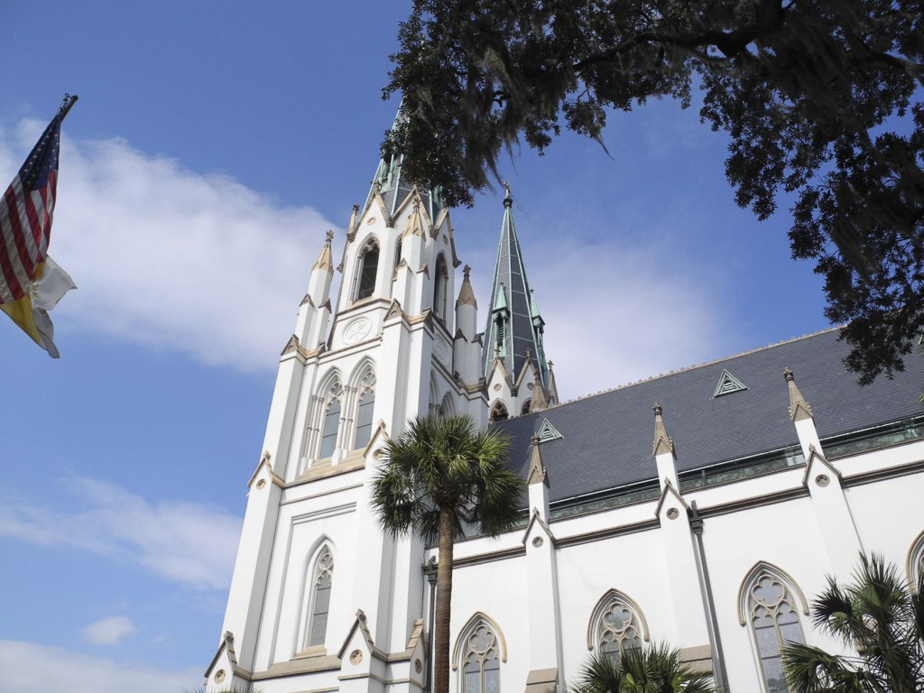 The Cathedral of St. John the Baptist, a French-Gothic church from the 1800's, is one of Savannah's most iconic landmarks. / Image: Cathedral of St. John the Baptist // Published: 3.8.19