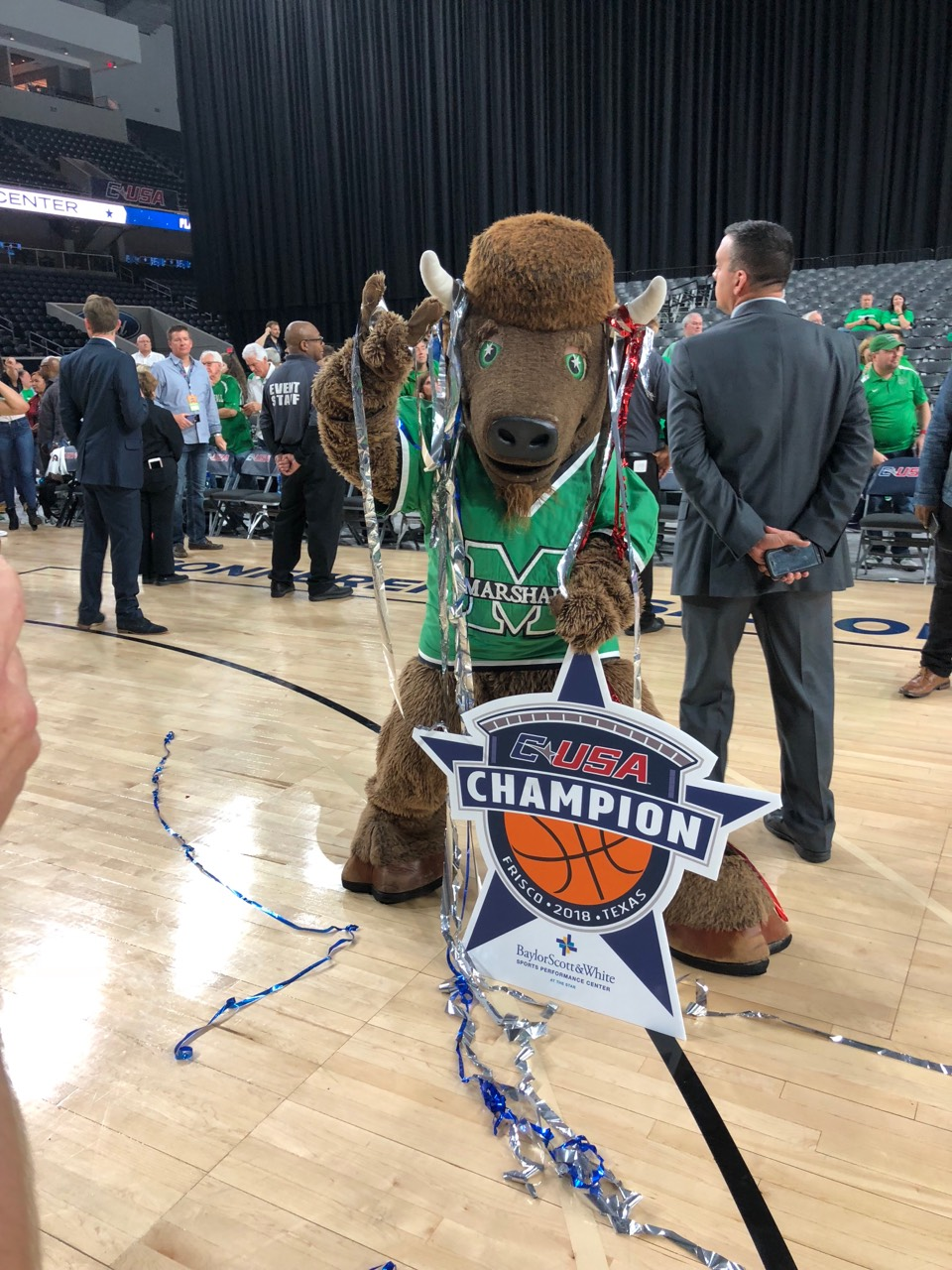 <p>For the first time since 1987, the Marshall Thundering Herd is in the NCAA Tournament. (Marshall University, Sabrena{&amp;nbsp;}Hirst)</p>