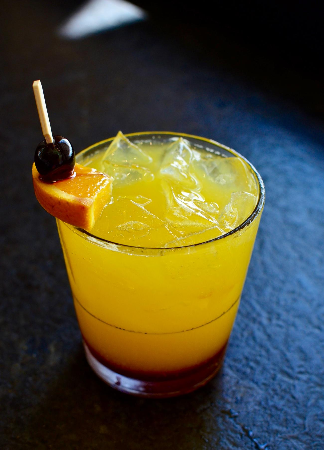 Tequila Sunrise: Blue Nectar Silver tequila, fresh-squeezed orange house, and house-made grenadine / Image: Leah Zipperstein, Cincinnati Refined // Published: 5.13.17