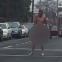 Video: Police called to the scene after naked man stops traffic in downtown D.C.