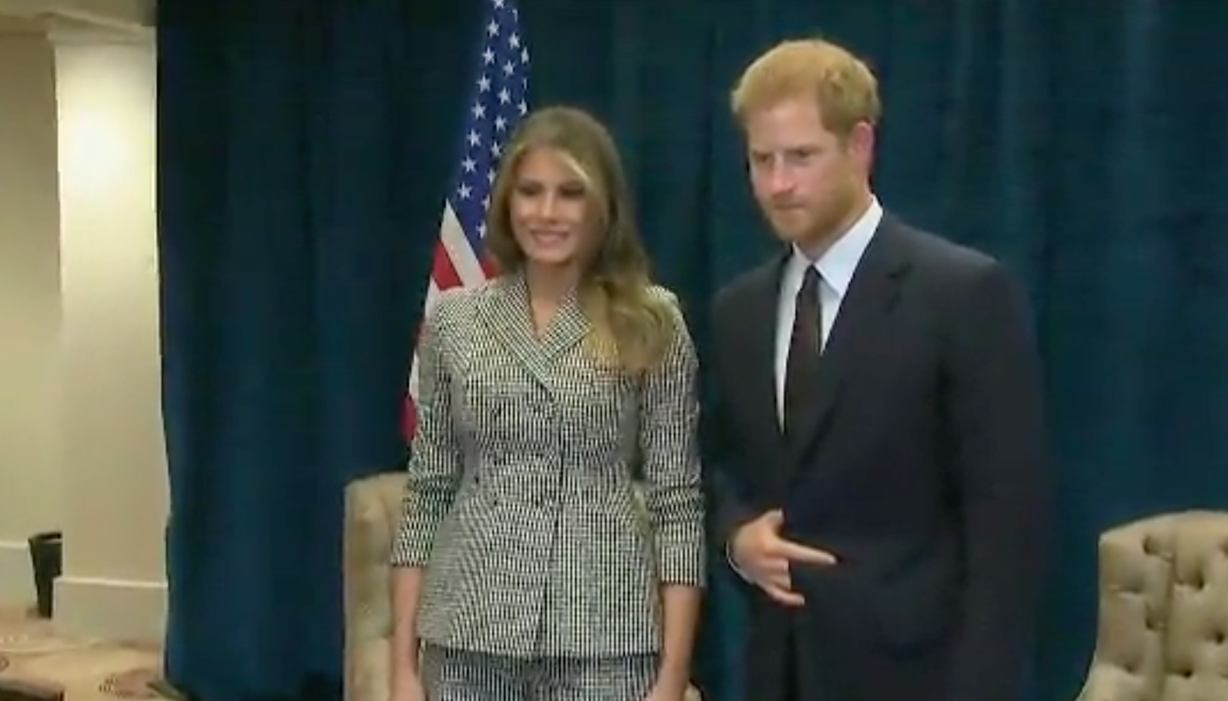 Prince Harry, Melania Trump at Invictus Games opening/ Photo Credit: CNN Newsource