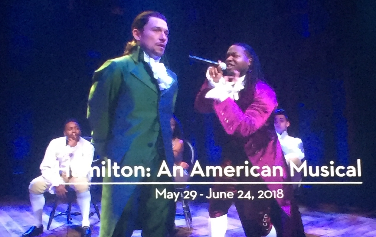 Hamilton was revealed as an upcoming tour during the Smith Center for the Performing Arts 2017-2018 Broadway series preview Tuesday, Feb. 28, 2017, in Reynolds Hall. It will run in Las Vegas from May 29 - June 24, 2018 (Jami Seymore | KSNV)