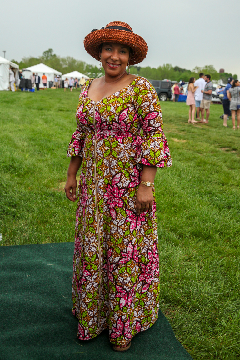 At Gold Cup:{ }In a sea of Lily Pulitzer, this dress was a refreshing break. (Amanda Andrade-Rhoades/DC Refined)