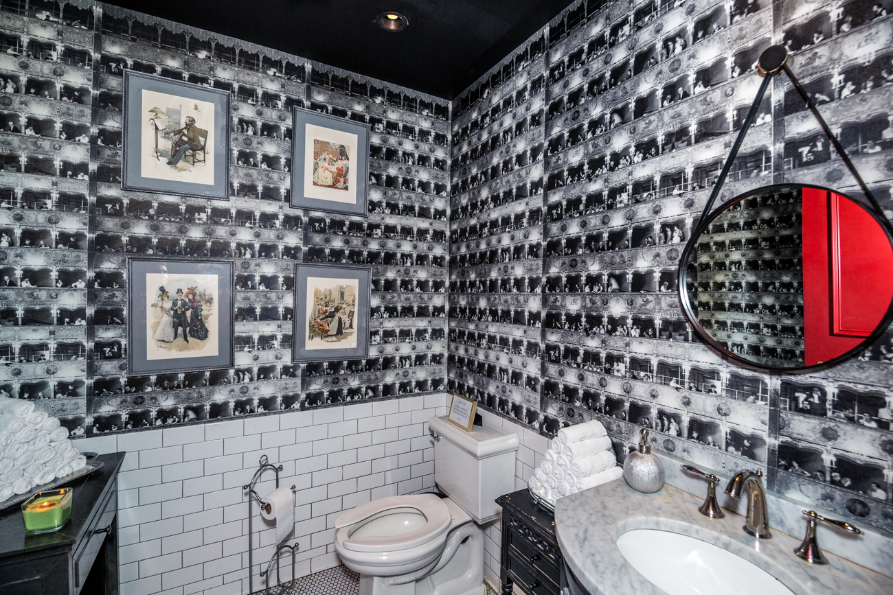 PLACE #7: Boca / ADDRESS: 114 E 6th Street (45202) / Downtown's Boca has multiple bathrooms, each with its own theme and personality. Great mirrors along with striking wallpaper in each space make for perfect photo ops. Enjoy their seasonal dinner menu once you leave the loo, too. / Image: Catherine Viox // Published: 8.8.19