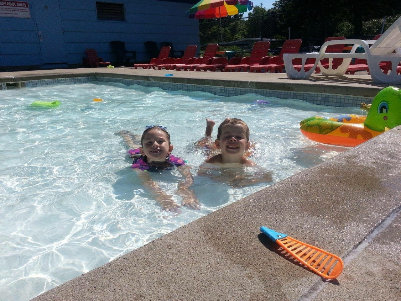 Members enjoy the pool at the Twyckenham  Hills Community Club. // Photo provided
