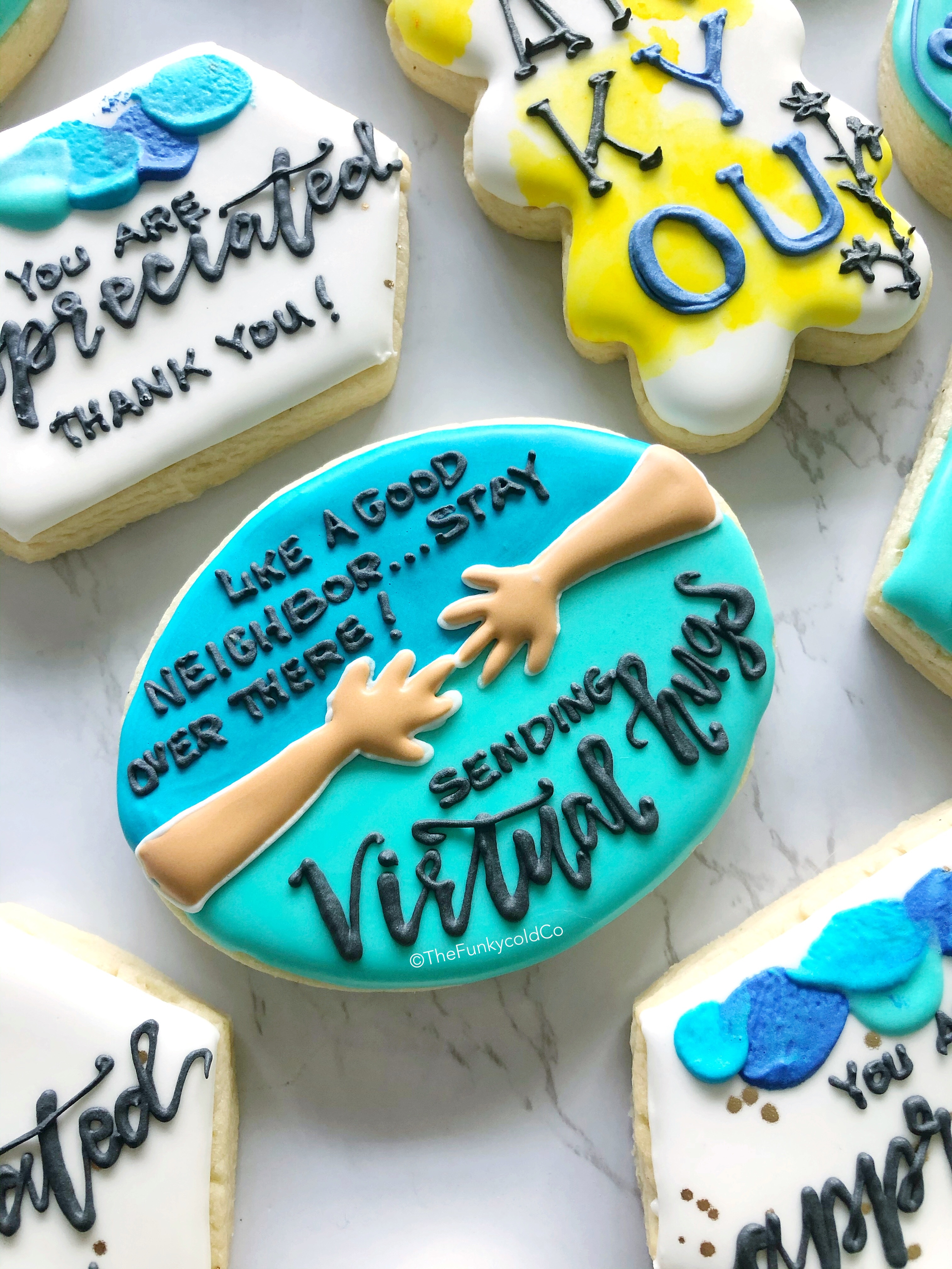 Steph and Jeff Medina create gorgeous customized cookies that celebrate community during the time of Covid-19. (Photo: The Funkycold Co.)