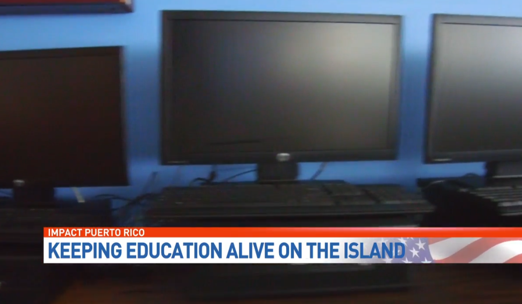 Students in Puerto Rico are still studying in the dark. (WPEC){ }